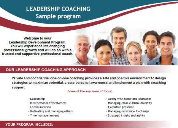 One on one corporate coaching program sample
